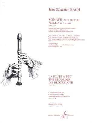 BACH - Sonate en fa majeur BWV 1035 – flûte à bec alto - Partition - di-arezzo.fr