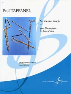 Paul Taffanel - Sicilienne étude op. 7 - Partition - di-arezzo.fr