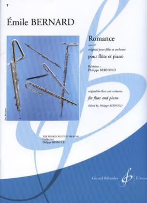 Emile Bernard - Romance op. 33 –flûte piano - Partition - di-arezzo.fr