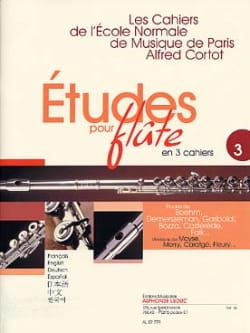 Studies for flute - Volume 3 Cahiers of the Normal School - Sheet Music - di-arezzo.co.uk