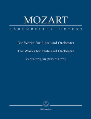 Wolfgang Amadeus Mozart - The Works for Flute and Orchestra - Partition - di-arezzo.fr