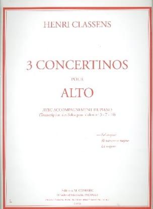 Henri Classens - Concertino n° 1 en sol majeur -Alto - Partition - di-arezzo.fr