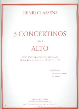 Concertino n° 1 en sol majeur -Alto Henri Classens laflutedepan