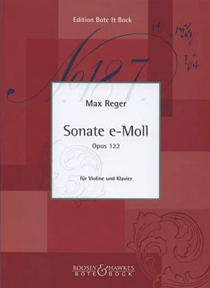 Max Reger - Sonata In Mi Min. Op. 122 - Sheet Music - di-arezzo.co.uk