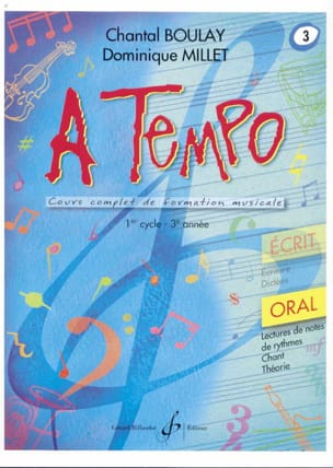 BOULAY - MILLET - A Tempo Volume 3 - Oral - Partition - di-arezzo.fr