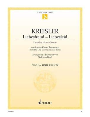 Fritz Kreisler - Liebesfreud Liebeslied - Partition - di-arezzo.fr