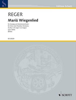 Max Reger - Mariä Wiegenlied Op.76 / 52 In Lab Maj - Sheet Music - di-arezzo.com