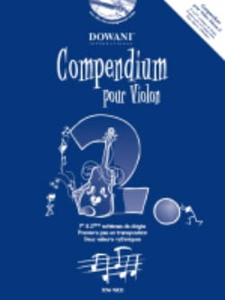 Compendium Pour Violon Vol.2 Partition Violon - laflutedepan