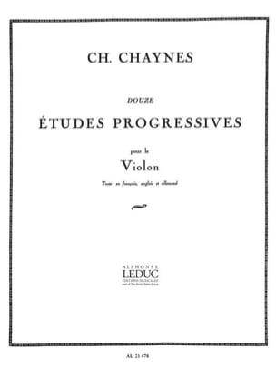 12 Etudes progressives Charles Chaynes Partition Violon - laflutedepan