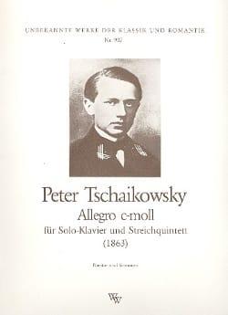 Piotr Illitch Tchaïkovski - Allegro c-moll – Partitur - Partition - di-arezzo.fr