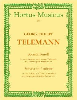 Georg Philipp Telemann - Sonate f-moll – Partitur - Partition - di-arezzo.fr
