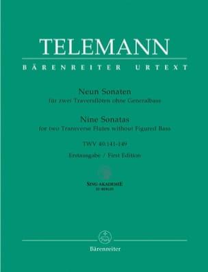 TELEMANN - 9 Sonaten TWV 40: 141-149 - 2 Flöten - Partition - di-arezzo.fr