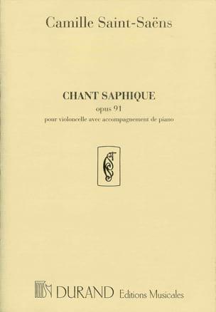 Camille Saint-Saëns - Chant Saphique Op.91 - Partition - di-arezzo.fr