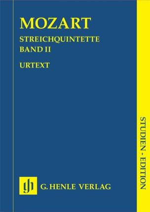 MOZART - Quintettes à cordes, volume 2 - Partition - di-arezzo.fr