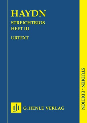 Joseph Haydn - Trios à cordes, volume 3 (trios attribués à Haydn) - Partition - di-arezzo.fr