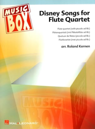 Roland Kernen - Disney Songs For Flute Quartet - Partition - di-arezzo.fr