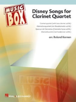 Disney Songs for Clarinet Quartet Roland Kernen Partition laflutedepan