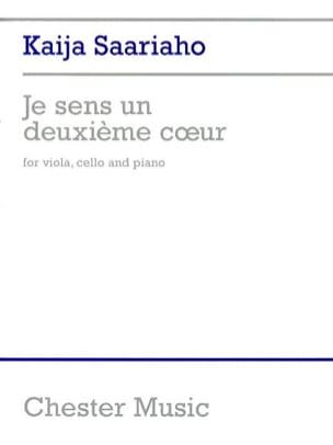 Kaija Saariaho - Je Sens un Deuxième Coeur - Partition - di-arezzo.fr