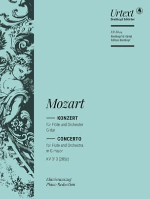 Wolfgang Amadeus Mozart - Konzert für Flöte G-Dur KV 313 (285c) – Flöte Klavier - Partition - di-arezzo.fr