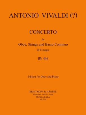 Antonio Vivaldi - Concerto In C Major Rv 446 - Partition - di-arezzo.fr