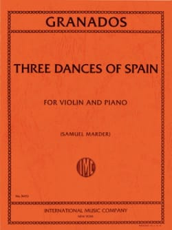 3 Dances Of Spain GRANADOS Partition Violon - laflutedepan