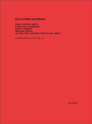 Salvatore Sciarrino - Opera Per Flauto 2 - Partitura - di-arezzo.es
