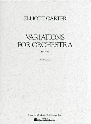 Elliott Carter - Variations Pour Orchestre - Partition - di-arezzo.fr