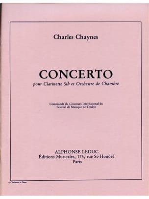 Concerto pour Clarinette Charles Chaynes Partition laflutedepan