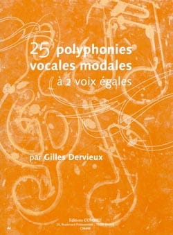Gilles Dervieux - 25 Modal vocal polyphonies - Sheet Music - di-arezzo.co.uk