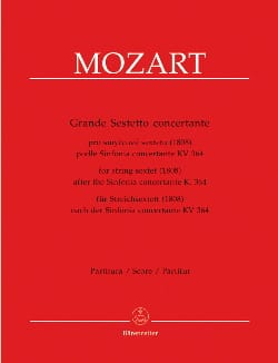 MOZART - Great Sestetto concertante - instrumental parts - Sheet Music - di-arezzo.co.uk