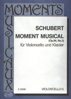 Moment Musical SCHUBERT Partition Violoncelle - laflutedepan