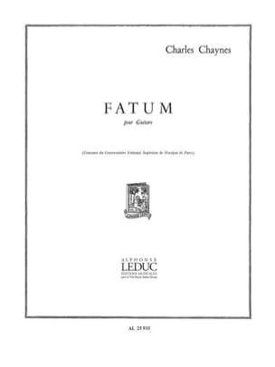 Charles Chaynes - Fatum - Partition - di-arezzo.fr