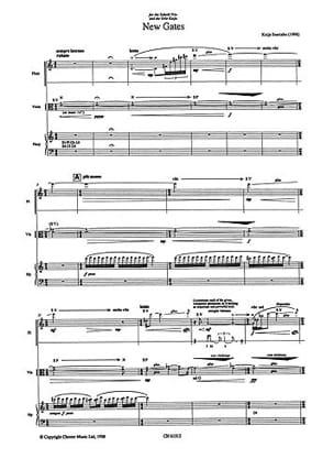 New Gates - flûte, alto et harpe - Score Kaija Saariaho laflutedepan
