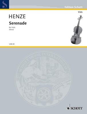 Hans Werner Henze - Sérénade –Alto - Partition - di-arezzo.fr