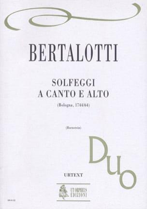 Solfeggi a canto e alto - Angelo Bertalotti - laflutedepan.com