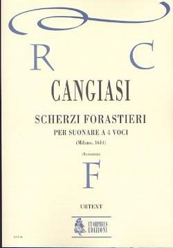 Giovanni Antonio Cangiasi - Scherzi forastieri per suonare a quattro voci - Partition - di-arezzo.fr