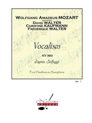 Mozart Wolfgang Amadeus / Walter David - Vocalises d'après Solfeggi KV 393 - Partition - di-arezzo.fr