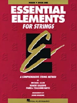 John Higgins - Essential Elements for strings book 1 - violin - Sheet Music - di-arezzo.com