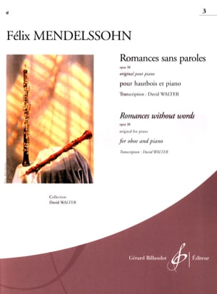 Romances Sans Paroles Volume 3 : Opus 38 MENDELSSOHN laflutedepan