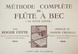 Roger Cotte - Metodo completo di flauto contralto - Partitura - di-arezzo.it
