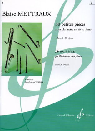 Blaise Mettraux - 30 Small Parts - Volume 3 - Sheet Music - di-arezzo.co.uk