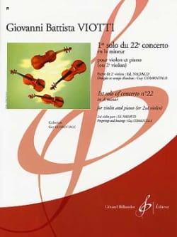 Giovanni Battista Viotti - 1st Solo of the Concerto n ° 22 - Sheet Music - di-arezzo.co.uk