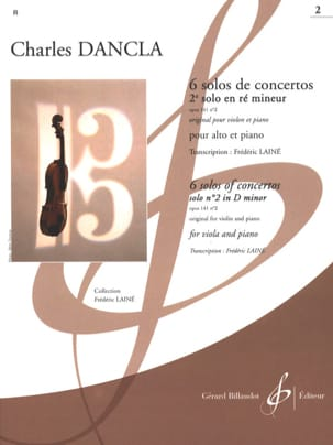 DANCLA - 2nd Concerto Solo op. 141 n ° 2 in D minor - Alto - Partition - di-arezzo.com