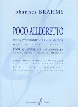 BRAHMS - Poco Allegretto – quatuor cellos - Partition - di-arezzo.fr