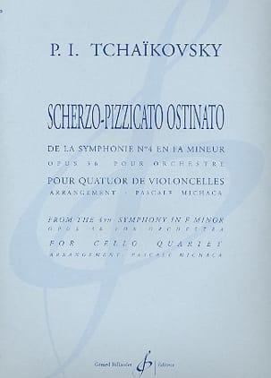 TCHAIKOVSKY - Scherzo-Pizzicato Ostinato - cuarteto de cellos - Partitura - di-arezzo.es