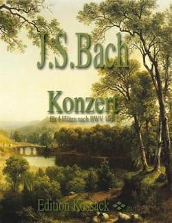 Konzert für 4 Flöten nach BWV 1041 BACH Partition laflutedepan