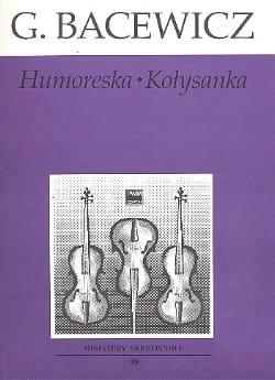 Humoresque Cradle Song - Grazyna Bacewicz - laflutedepan.com
