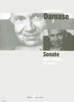 Sonate Violon et Piano Jean-Michel Damase Partition laflutedepan