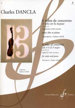 DANCLA - 3rd Solo of Concerto Op. 141 N ° 3 in F Major - viola - Sheet Music - di-arezzo.co.uk