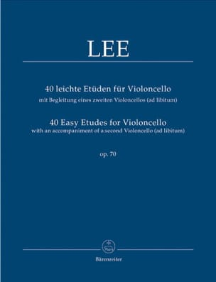 Lee - 40 Easy Studies para Cello Op 70 - Partitura - di-arezzo.es